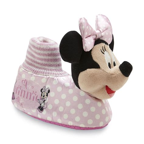 minnie mouse slippers disney toddler s minnie mouse slipper pink polka