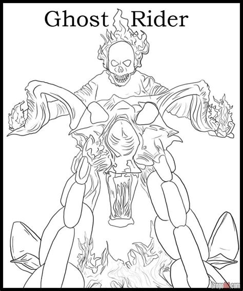 coloring pages and rider ghost rider coloring page coloring home