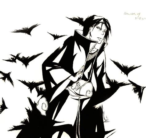 itachi crows by patmaruo on deviantart