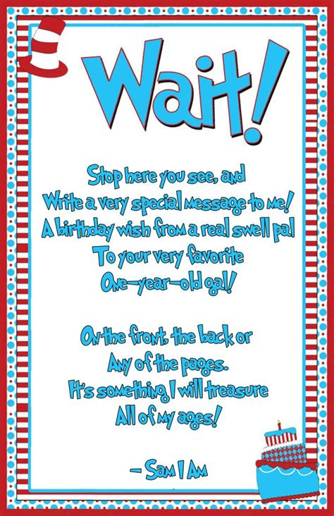 1st Happy Birthday Quotes Excited About Dr Seuss Birthday Party Dr Seuss