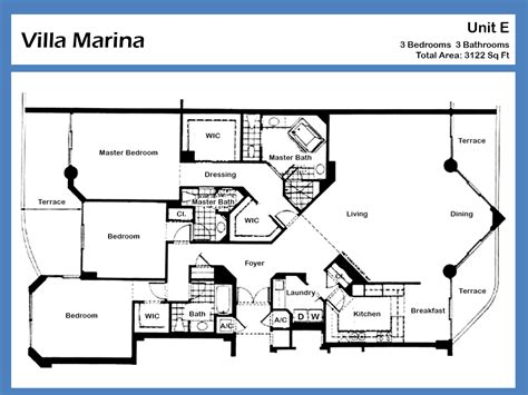 villa marina floor plan villa marina luxury condo for sale rent floor plans sold