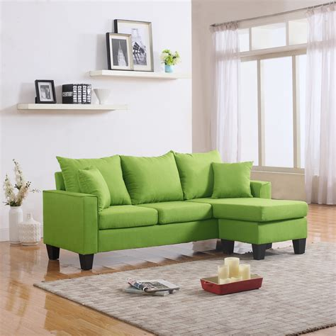 sectional sofa with reversible chaise modern fabric small space sectional sofa with reversible