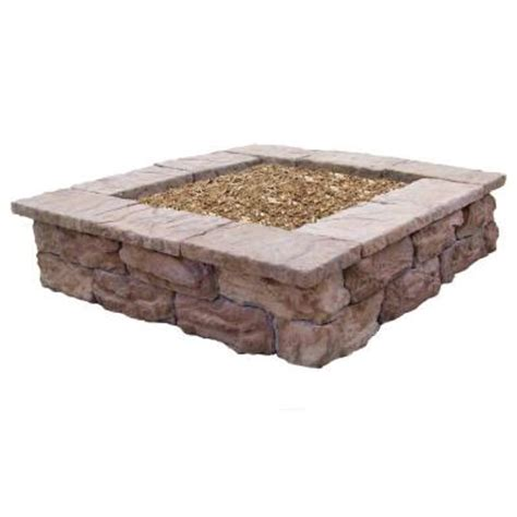 home depot decorative stone fossill stone square outdoor decorative planter fbsp the