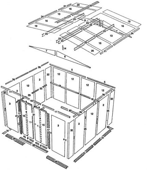 Shed Parts List by Storage Shed Steel 10 X 8 Outside Bike Lawn Garden Tools