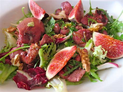 cuisiner des foies de volaille salade festive aux figues diet d 233 lices recettes