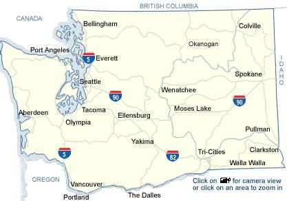 washington state road maps  travel information