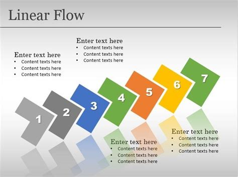 free linear flow template for powerpoint free powerpoint