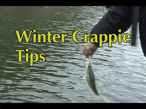 winter crappie tips youtube crappie fishing tips