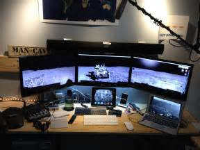 computer desk 3 monitors 187 monitor support on macbook air 11 mid 2011