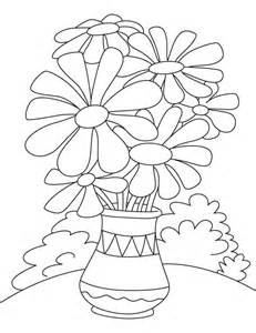 flower pot coloring page flower pot coloring page vocales