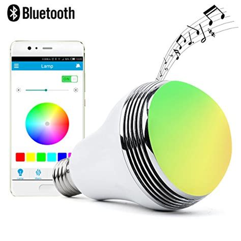 Smart Multicolor Bulb Bluetooth Speaker autai led light bulb with smart bluetooth speaker and app import it all