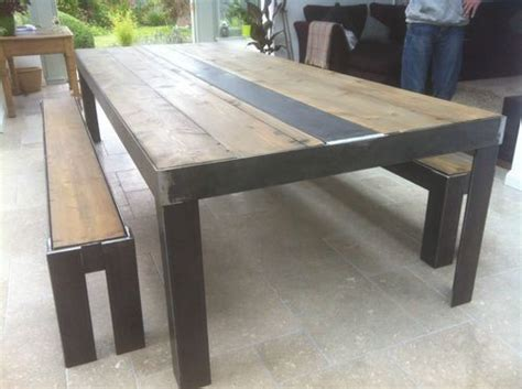 Industrial Dining Table & benches 6 seat Vintage Chic Loft