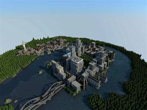 seattle map minecraft map infamous second 1 7 minecraft