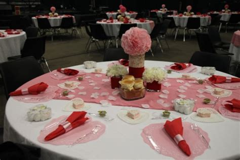 Decorating Ideas For Valentines Banquet Easy Table Decorations For Church Dinner Photograph Images