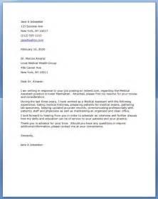 Medical Assistant Cover Letter Resume Downloads