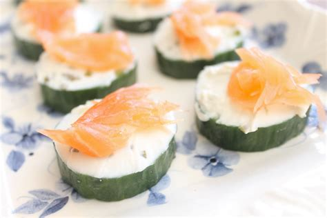 traditional canapes easy canapes salmon cucumber and cheese