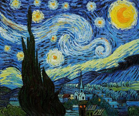 starry night starry night van gogh quotes quotesgram