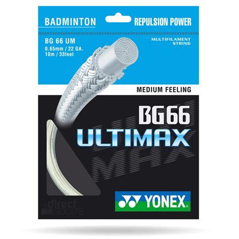 Raket Yonex Ti 10 yonex bg 66 ultimax white 10 metre set badminton racket string direct badminton