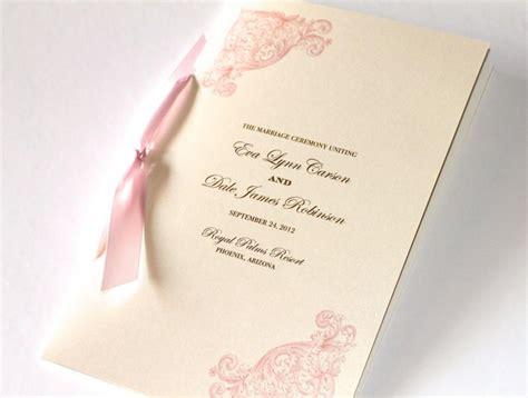 wedding booklet layout vintage wedding program elegant wedding program