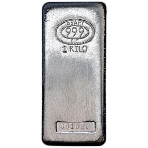1 Kilo Silver Bar by Buy 1 Kilo Asahi Silver Bars Salt Lake City Silver