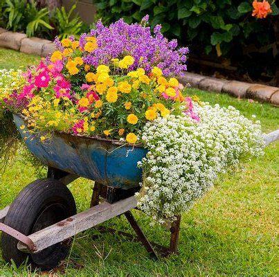 wheelbarrow planter garden projects