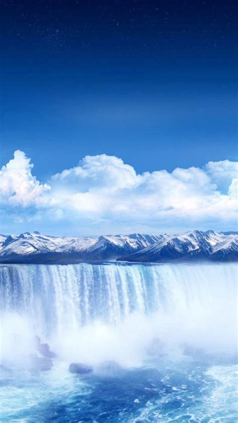Winter Waterfall LG G4 Wallpapers   LG G4 Wallpaper