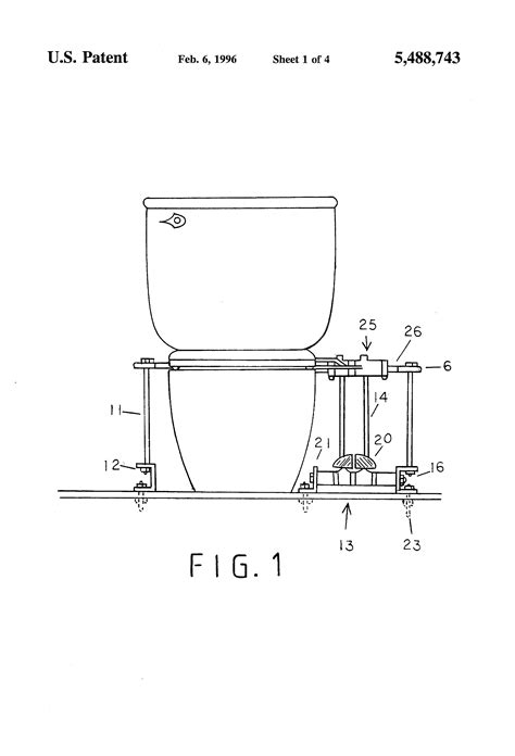 toilet seat lifter pedal patent us5488743 toilet seat pedal lifter patents
