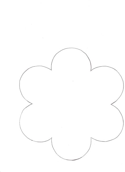 printables 6 petals flowers templates