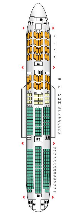 Class B Floor Plans by B777 200 Three Class British Airways Seat Maps
