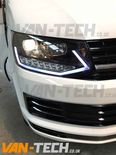 vw led lights vw transporter t6 led drl light bar headlights