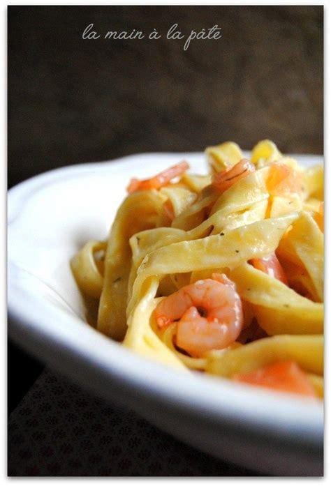 tagliatelles 224 la carbonara de saumon et petites crevettes recette tagliatelle