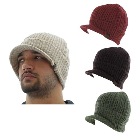 mens knit hats true religion s solid visor beanie knit hat cap