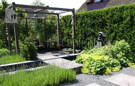 Tuin Met Pergola by Hedendaagse Leeftuin Driebruggen Tuinontwerp En