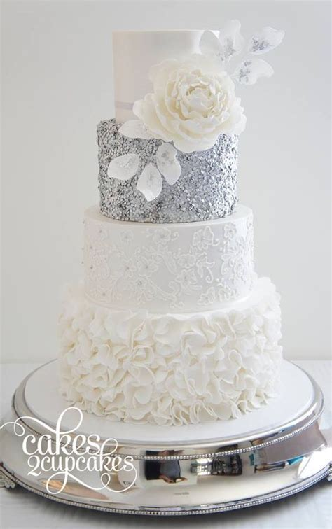 25 Trending Wedding Cakes   two pink canaries