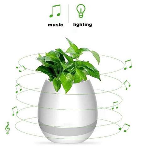 Pot Vas Bunga Handmade 03 flower pot vas bunga dengan speaker bluetooth white
