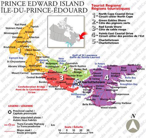 prince edward island map of canada prince edward island bed and breakfasts b bs canada