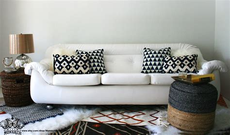 vegan leather couch vintage italian modern white vegan leather space age sofa