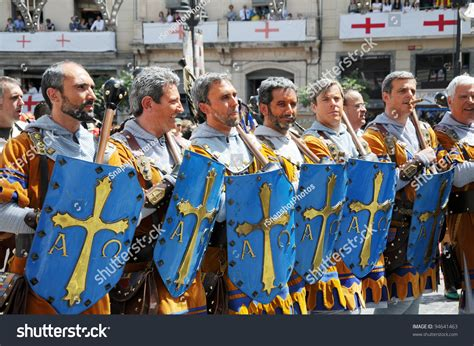 moros y cristianos moors alcoy spain may 14 men dressed stock photo 94641463 shutterstock