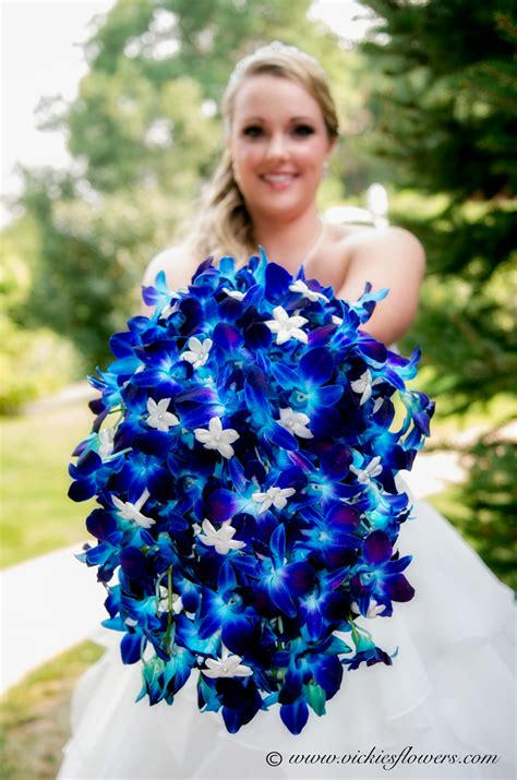 Blue Wedding Flower Pictures by Blue Orchid Wedding Bouquet Www Pixshark Images