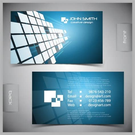 templates for business cards vector 5 excellent free vector business card templates creative