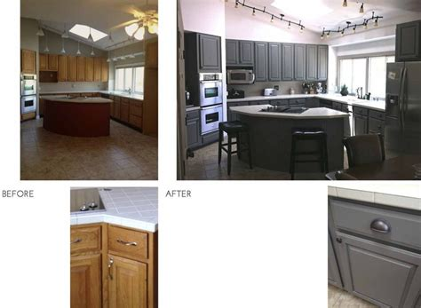Update Oak Kitchen Cabinets Updating Oak Cabinets Before And After Before After Kitchen Fix Golden Oak