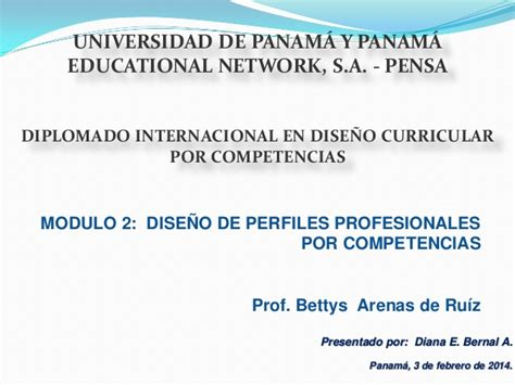 Diseño Curricular Por Competencias Profesionales Dise 241 O De Perfiles Profesionales Por Competencias