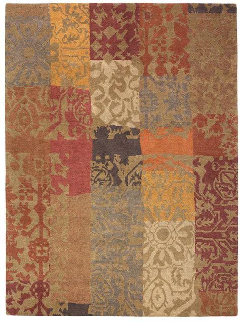 kodari rugs kodari patchwork 94003 knotted rug from the tibetan rugs collection at modern area rugs