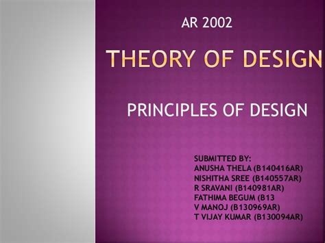 theory of layout theory of design principles designs of architecture