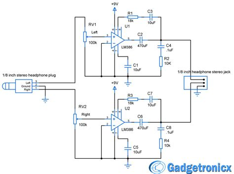 transistor headphone lifier schematic headphone lifier circuit gadgetronicx