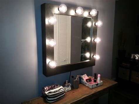wall mounted makeup mirror with led lights lighted wall mount vanity makeup mirror ebay