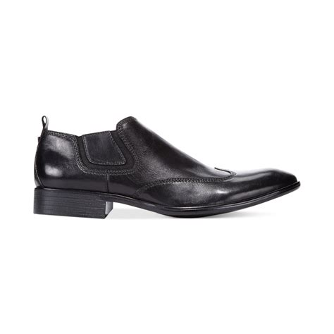 guess robbins slip on dress shoes in black for lyst