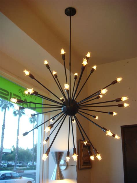 Filament Light Fixtures Rubbed Bronze Sputnik Starburst Light Fixture Chandelier Large Filament Bulb Ebay