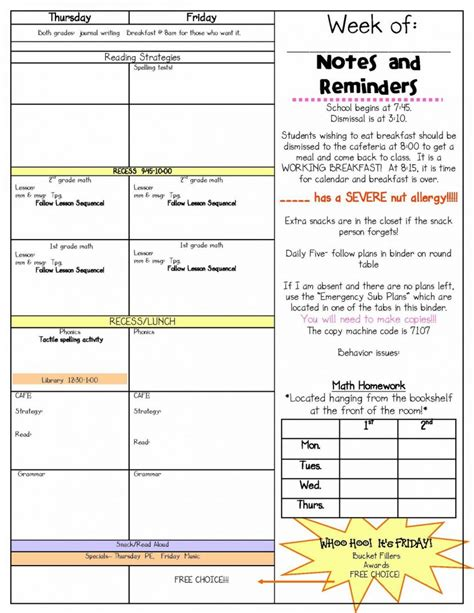 substitute lesson plan template elipalteco