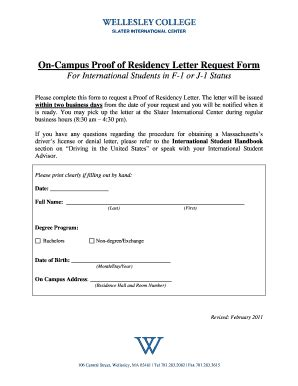 Proof Of Residency Letter New York Request Itin Letter